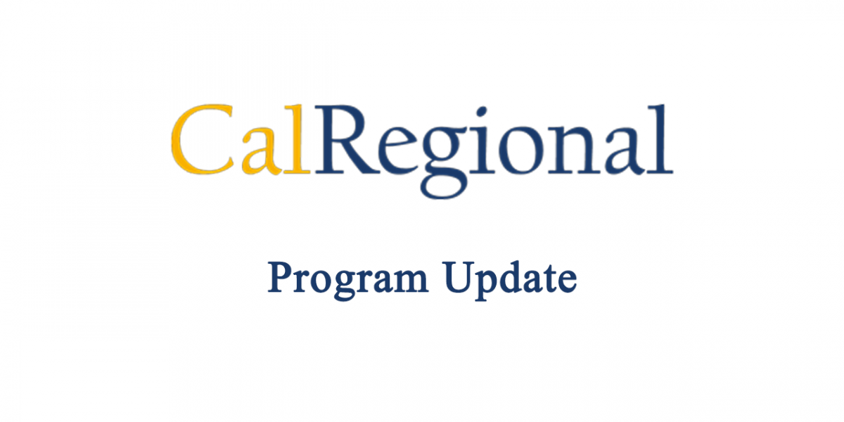 CalRegional Program Update
